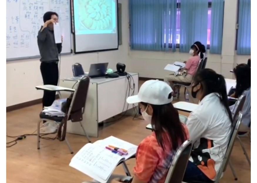 บรรยากาศห้องเรียนภาษาจีนระดับต้นที่ OCA